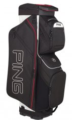 Ping Traverse Cart Bag Black/White/Scarlet