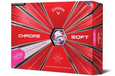Callaway Chrome Soft Truvis Golf Balls White/ Pink 2018