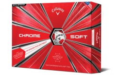 Callaway Chrome Soft Truvis Golf Balls White/ Red 2018