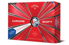 Callaway Chrome Soft Truvis Golf Balls White/ Red/ Blue 2018
