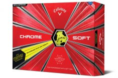 Callaway Chrome Soft Truvis Golf Balls Yellow/ Black 2018