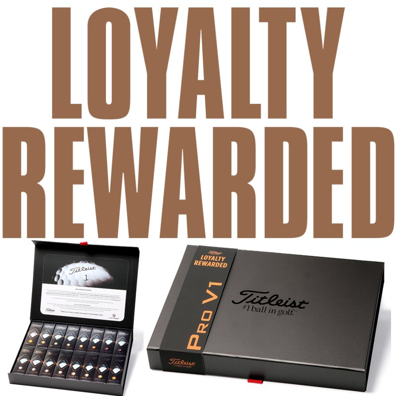 Titleist Pro V1 BUY 3 get 1 FREE Loyalty Gift Pack Plain