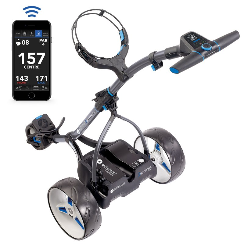 Motocaddy S5 Connect DHC Trolley With Extended Holes Lithium Battery + FREE BAG