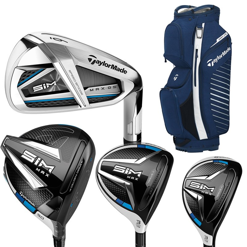 Taylormade Sim Max OS Package Set With FREE GOLF BAG